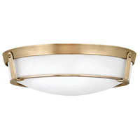 Hinkley 3226HB-LED Hathaway LED 21 inch Heritage Brass Flush Mount Ceiling Light in Etched
