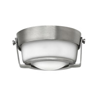 Hinkley 3228AN-QF Hathaway LED 7 inch Antique Nickel Foyer Flush Mount Ceiling Light in Etched, Damp Rated