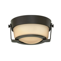 Hathaway LED 7 inch Olde Bronze Foyer Flush Mount Ceiling Light in Etched Amber