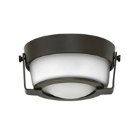 Hathaway LED 7 inch Olde Bronze Foyer Flush Mount Ceiling Light in Etched Opal