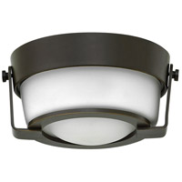 Hinkley 3228OB-WH Hathaway 1 Light 7 inch Olde Bronze Flush Mount Ceiling Light in Etched Opal
