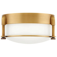 Hinkley 3230HB Colbin LED 7 inch Heritage Brass Flush Mount Ceiling Light