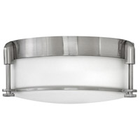 Colbin 2 Light 13 inch Brushed Nickel Foyer Flush Mount Ceiling Light
