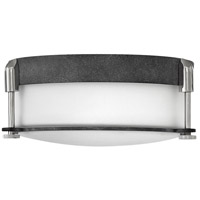 Hinkley 3231DZ Colbin 2 Light 13 inch Aged Zinc Foyer Flush Mount Ceiling Light