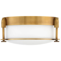 Colbin 2 Light 13 inch Heritage Brass Flush Mount Ceiling Light