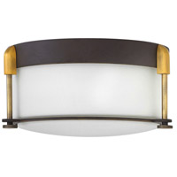 Colbin 2 Light 13 inch Oil Rubbed Bronze Foyer Flush Mount Ceiling Light