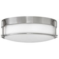 Hinkley 3233BN Colbin 3 Light 17 inch Brushed Nickel Foyer Flush Mount Ceiling Light