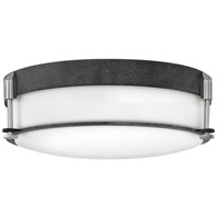 Hinkley 3233DZ Colbin 3 Light 17 inch Aged Zinc Foyer Flush Mount Ceiling Light