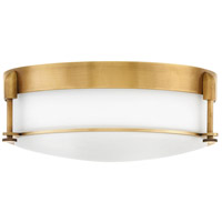 Hinkley 3233HB Colbin 3 Light 17 inch Heritage Brass Flush Mount Ceiling Light