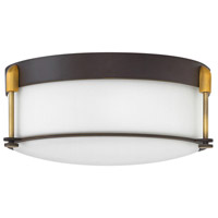 Hinkley 3233OZ Colbin 3 Light 17 inch Oil Rubbed Bronze Foyer Flush Mount Ceiling Light