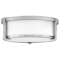 Hinkley 3241AN Lowell 2 Light 13 inch Antique Nickel Flush Mount Ceiling Light