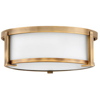 Hinkley 3241BR Lowell 2 Light 13 inch Brushed Bronze Flush Mount Ceiling Light