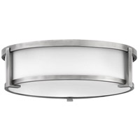 Hinkley 3243AN Lowell 3 Light 16 inch Antique Nickel Flush Mount Ceiling Light