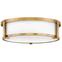 Hinkley 3243BR Lowell 3 Light 16 inch Brushed Bronze Flush Mount Ceiling Light