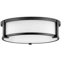 Hinkley 3243BK Lowell 3 Light 16 inch Black Flush Mount Ceiling Light
