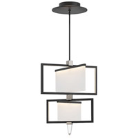 Hinkley 32506BLK Folio 1 Light 25 inch Black Chandelier Ceiling Light, Two Tier