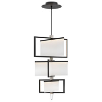 Hinkley 32508BLK Folio 1 Light 30 inch Black Chandelier Ceiling Light, Three Tier