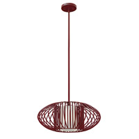 Hinkley Lighting Vibe 1 Light Mini-Pendant in Crimson with Etched Opal Glass 32557CRM-LED