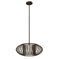 Hinkley 32557VBZ-GU24 Vibe 1 Light 19 inch Vintage Bronze Mini-Pendant Ceiling Light in GU24, Etched Opal Glass
