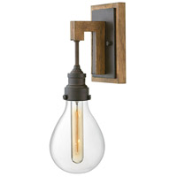 Hinkley Walnut Steel Wall Sconces