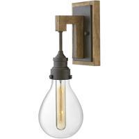 Hinkley 3260IN Denton 1 Light 5 inch Industrial Iron/Vintage Walnut Sconce Wall Light