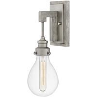 Hinkley 3260PW Denton 1 Light 5 inch Pewter/Driftwood Gray Sconce Wall Light