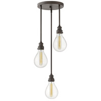Hinkley 3263IN Denton 3 Light 11 inch Industrial Iron Chandelier Ceiling Light