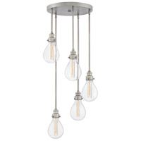 Hinkley 3265PW Denton 5 Light 18 inch Pewter Chandelier Ceiling Light