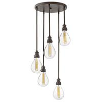 Hinkley 3265IN Denton 5 Light 18 inch Industrial Iron Chandelier Ceiling Light