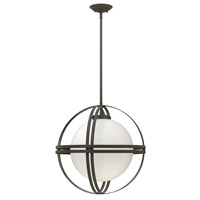 Atrium 1 Light 19 inch Bronze Mini-Pendant Ceiling Light in LED, Etched Opal Glass