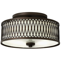 Walden 3 Light 13 inch Victorian Bronze Semi Flush Ceiling Light