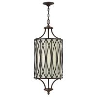 Walden 3 Light 12 inch Victorian Bronze Hanging Foyer Ceiling Light