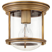 Hinkley 3300BR-CL Hadley 1 Light 8 inch Brushed Bronze Foyer Flush Mount Ceiling Light in Clear Seedy