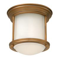 Hadley 1 Light 8 inch Brushed Bronze Flush Mount Ceiling Light in LED, Etched Opal Glass