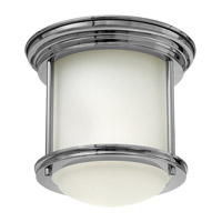 Hadley 1 Light 8 inch Chrome Flush Mount Ceiling Light in LED, Etched Opal Glass