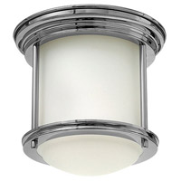 Hadley 1 Light 8 inch Chrome Foyer Flush Mount Ceiling Light in Etched Opal, Etched Opal Glass