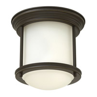 Hadley 1 Light 8 inch Oil Rubbed Bronze Flush Mount Ceiling Light in LED, Etched Opal Glass