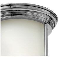 Hinkley 3300CM Hadley 1 Light 8 inch Chrome Flush Mount Ceiling Light in Etched Opal, Etched Opal Glass alternative photo thumbnail