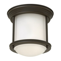Hadley 1 Light 8 inch Oil Rubbed Bronze Flush Mount Ceiling Light in GU24, Etched Opal Glass