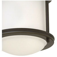 Hinkley 3300OZ Hadley 1 Light 8 inch Oil Rubbed Bronze Foyer Flush Mount Ceiling Light in Incandescent, Etched Opal, Etched Opal Glass alternative photo thumbnail