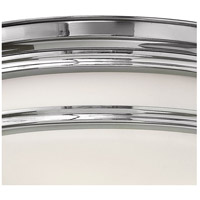 Hinkley 3301CM Hadley 3 Light 14 inch Chrome Foyer Flush Mount Ceiling Light in Incandescent, Etched Opal Glass alternative photo thumbnail