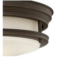 Hinkley 3301OZ Hadley 3 Light 14 inch Oil Rubbed Bronze Foyer Flush Mount Ceiling Light in Incandescent, Etched Opal Glass alternative photo thumbnail