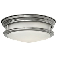 Hinkley 3302AN-LED Hadley LED 12 inch Antique Nickel Foyer Flush Mount Ceiling Light in Etched Opal