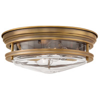 Hinkley 3302BR-CL Hadley 2 Light 12 inch Brushed Bronze Foyer Flush Mount Ceiling Light in Incandescent, Clear Seedy