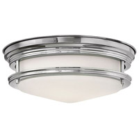 Hinkley 3302CM-LED Hadley LED 12 inch Chrome Foyer Flush Mount Ceiling Light in Etched Opal