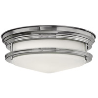 Hadley 2 Light 12 inch Chrome Foyer Flush Mount Ceiling Light in Incandescent, Etched Opal Glass