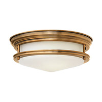 Hadley 2 Light 12 inch Brushed Bronze Flush Mount Ceiling Light in GU24, Etched Opal Glass