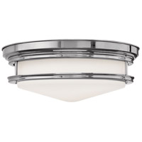 Hadley 4 Light 20 inch Chrome Foyer Flush Mount Ceiling Light in Incandescent, Etched Opal Glass