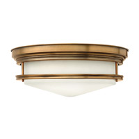Hadley 4 Light 20 inch Brushed Bronze Flush Mount Ceiling Light in GU24, Etched Opal Glass