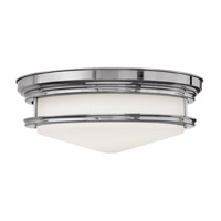 Hadley 4 Light 20 inch Chrome Flush Mount Ceiling Light in GU24, Etched Opal Glass